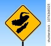 nusa lembongan map road sign.... | Shutterstock .eps vector #1076368325
