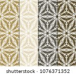 set of modern stylish geometry... | Shutterstock .eps vector #1076371352