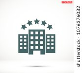 building vector icon | Shutterstock .eps vector #1076376032