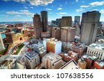 Buildings in downtown Boston Massachusetts - stock photo