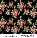 flowers pattern.for textile ...   Shutterstock . vector #1076394638