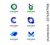 abstract logo  logo for... | Shutterstock .eps vector #1076397908
