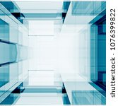 blue transparent technology...   Shutterstock . vector #1076399822