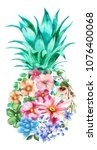 Watercolor Pineapple Graphic...