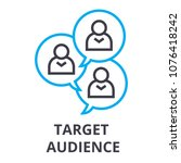 target audience thin line icon  ... | Shutterstock .eps vector #1076418242