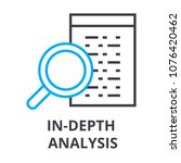 in depth analysis thin line... | Shutterstock .eps vector #1076420462