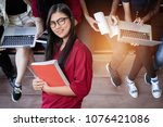 education first  beautiful...   Shutterstock . vector #1076421086