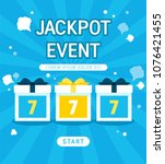 shopping jackpot games event... | Shutterstock .eps vector #1076421455