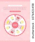 shopping roulette event design | Shutterstock .eps vector #1076421458