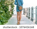 woman with fashionable stylish... | Shutterstock . vector #1076426168