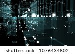 abstract 3d rendered city of... | Shutterstock . vector #1076434802