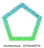 halftone circle contour...   Shutterstock .eps vector #1076444576