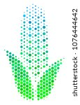 halftone dot corn pictogram.... | Shutterstock .eps vector #1076444642