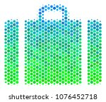 halftone round spot baggage... | Shutterstock .eps vector #1076452718