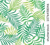 tropical background with palm... | Shutterstock .eps vector #1076458046