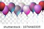 bright realistic helium vector... | Shutterstock .eps vector #1076460335