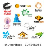 set of vector icons and symbols | Shutterstock .eps vector #107646056