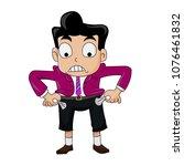 businessman pull up his pocket... | Shutterstock .eps vector #1076461832