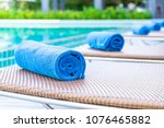 Towel Pool On Bed Around...