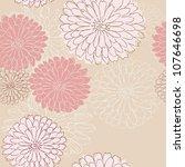 seamless floral pattern | Shutterstock .eps vector #107646698