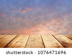 abstract table wood over blur... | Shutterstock . vector #1076471696