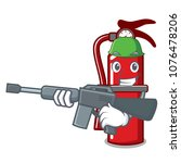 army fire extinguisher... | Shutterstock .eps vector #1076478206