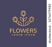 floral logo. leafs icon. floral ... | Shutterstock .eps vector #1076479985