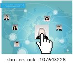 template of a group of business ...   Shutterstock .eps vector #107648228