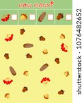 educational counting game for...   Shutterstock .eps vector #1076482652