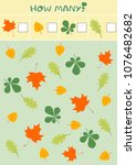 educational counting game for...   Shutterstock .eps vector #1076482682