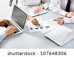 group of business people busy... | Shutterstock . vector #107648306