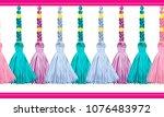 seamless border pattern ...   Shutterstock .eps vector #1076483972