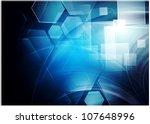 dark hi tech background. vector ... | Shutterstock .eps vector #107648996