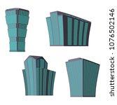 set of four modern high rise... | Shutterstock .eps vector #1076502146