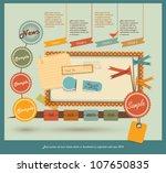 vintage web design elements | Shutterstock .eps vector #107650835