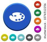 color palette round color... | Shutterstock .eps vector #1076512256
