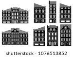 houses. old european city... | Shutterstock .eps vector #1076513852