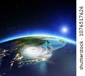 japan and korea cyclone....   Shutterstock . vector #1076517626
