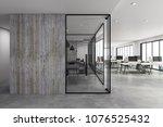 modern coworking office... | Shutterstock . vector #1076525432