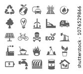 energy and environment icon in...