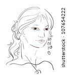 elegant girl   Shutterstock .eps vector #107654222