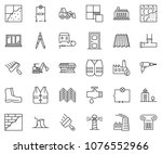thin line icon set   office... | Shutterstock .eps vector #1076552966