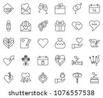 thin line icon set   14... | Shutterstock .eps vector #1076557538