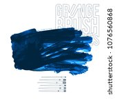 blue brush stroke and texture.... | Shutterstock .eps vector #1076560868