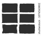 rectangular grunge vector... | Shutterstock .eps vector #1076563802