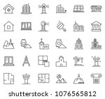 thin line icon set   bank... | Shutterstock .eps vector #1076565812
