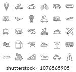 thin line icon set   home... | Shutterstock .eps vector #1076565905