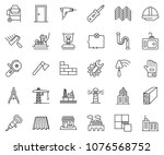thin line icon set   office... | Shutterstock .eps vector #1076568752