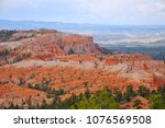 cloudy day in bryce canyon... | Shutterstock . vector #1076569508
