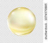 oil gold bubble isolated on... | Shutterstock .eps vector #1076570885